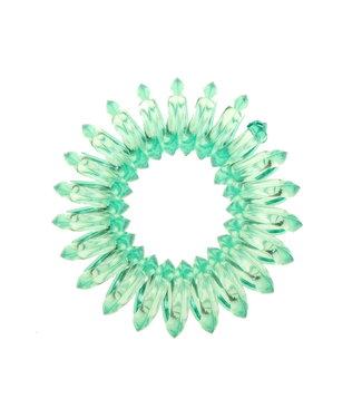 Transparant spiraal elastiek - Sea Green - 3 stuks