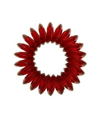 Transparent spiral elastic - Wine - 3 pieces