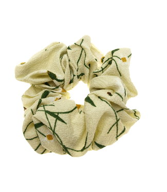 Scrunchie beige with flowers