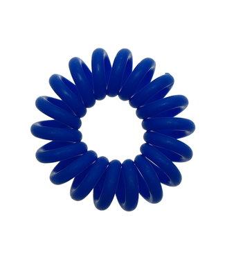 Opaque spiraal elastiek - Indigo - 3 stuks