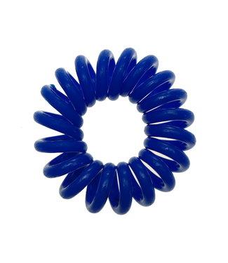 Opaque spiraal elastiek - Cobalt - 3 stuks