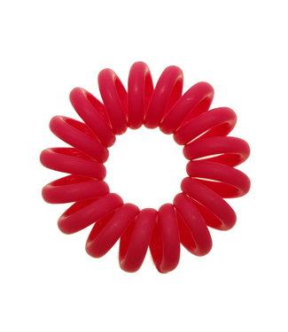 Opaque spiraal elastiek - Magenta - 3 stuks