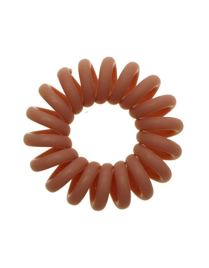 Opaque  spiraal elastiek - Nude - 3 stuks