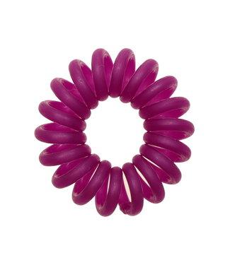 Opaque spiraal elastiek - Pansy - 3 stuks