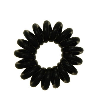 Opaque spiraal elastiek - Pitch Black - 3 stuks