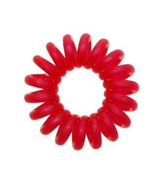 Opaque spiraal elastiek - Raspberry - 3 stuks