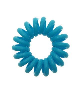 Opaque spiraal elastiek - Sky Blue - 3 stuks