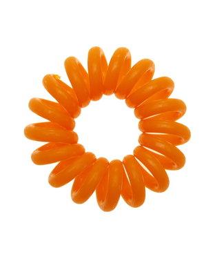 Opaque spiraal elastiek - Tangerine - 3 stuks