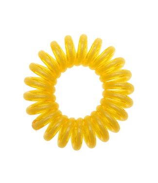 Semi transparant spiraal elastiek - Sunshine - 3 stuks