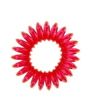 Transparent spiral elastic - Watermelon - 3 pieces