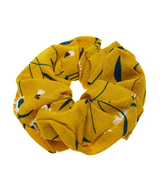 Scrunchie ochre with flowers