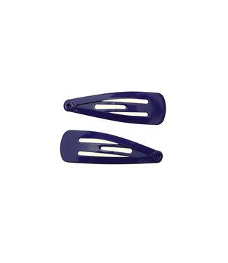 Basic Mini Hairclips - Dark Purple - 3 cm.