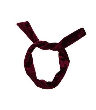 Draad wrap haarband - Donker Roze Velvet