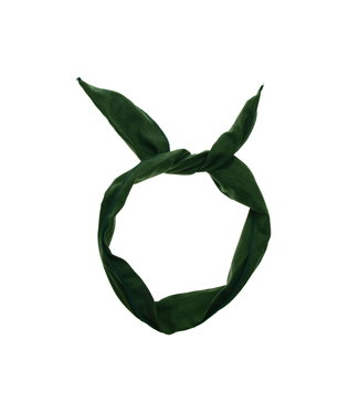 Draad wrap haarband - Donker Groen