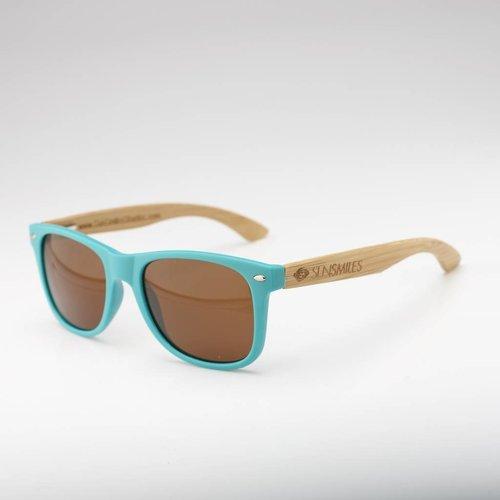Bamboo Sunglasses Aqua