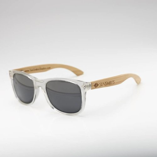 Bamboo Sunglasses Clear Transparent Frame