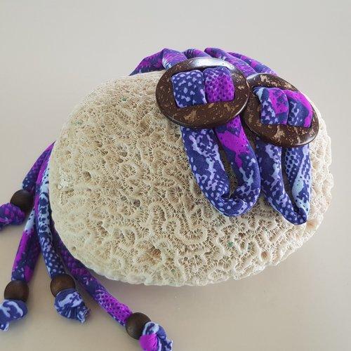 Coco Print Linten Purple Snake