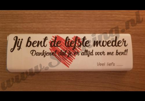 Reep chocola met opdruk voor moeder