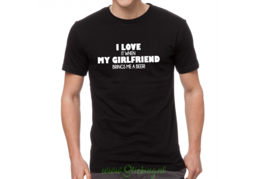 Heren shirt *Girlfriend-beer*