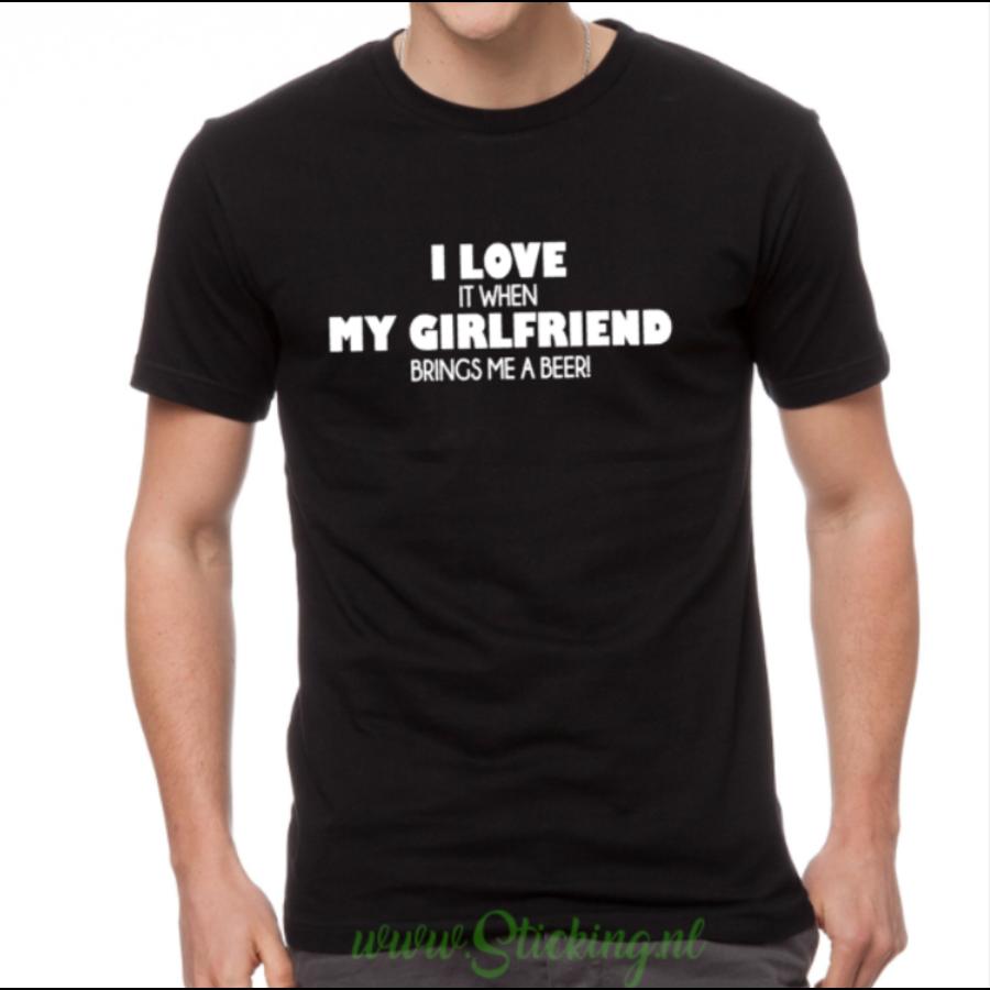 Heren shirt *Girlfriend-beer*-1