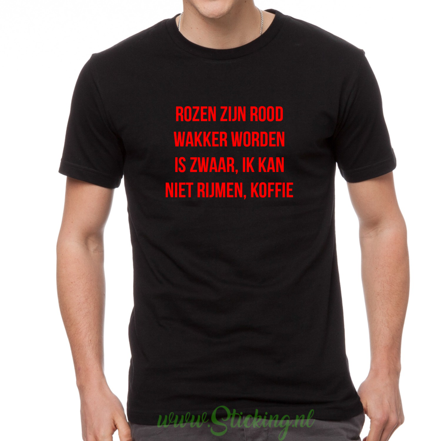Heren shirt *Rijmen koffie*-2