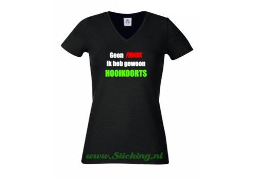 T-Shirt , Geen paniek, ik heb gewoon hooikoorts