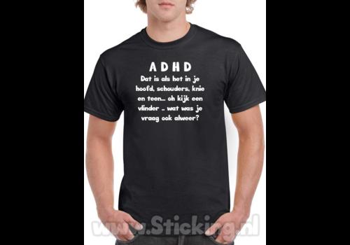 ADHD shirt tekst