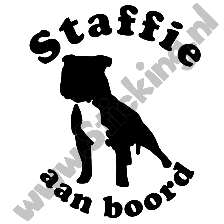 Stafford aan boord sticker-2