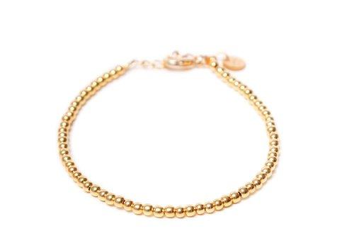 Label Kiki Round ball bracelet gold