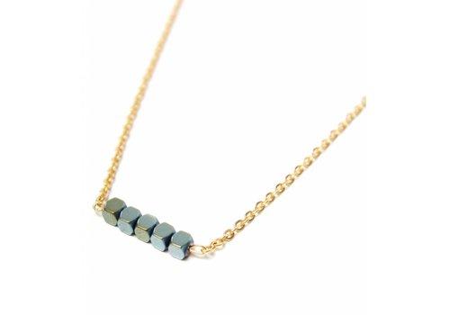 Label Kiki Hematite necklace gold