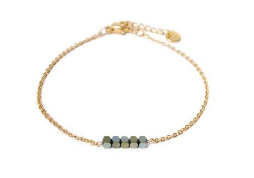 Label Kiki Hematite bracelet gold