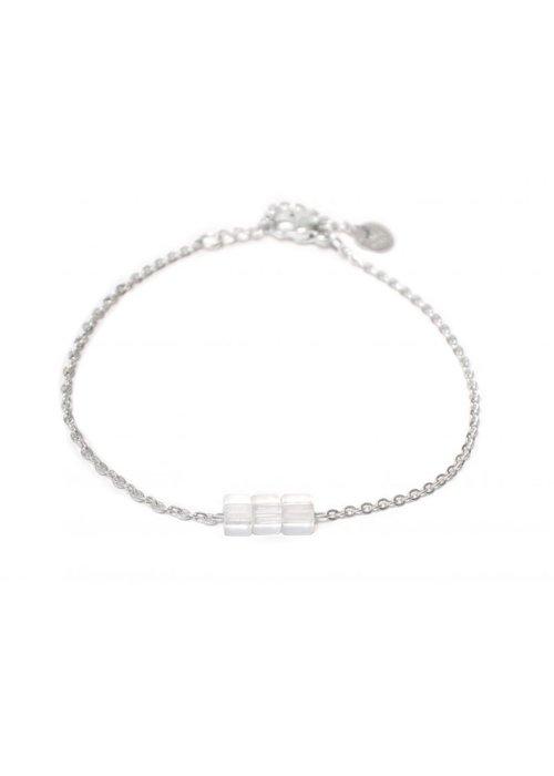 Label Kiki Cube bracelet silver