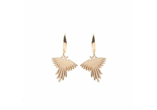 All the Luck in the World Souvenir earrings Eagle - Gold