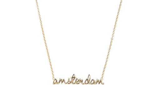 All the Luck in the World Urban necklace city Amsterdam - Gold
