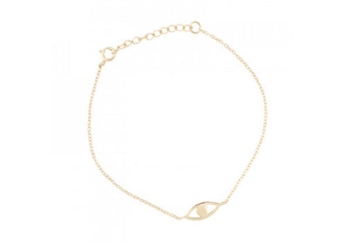 All the Luck in the World Fortune bracelet eye - gold