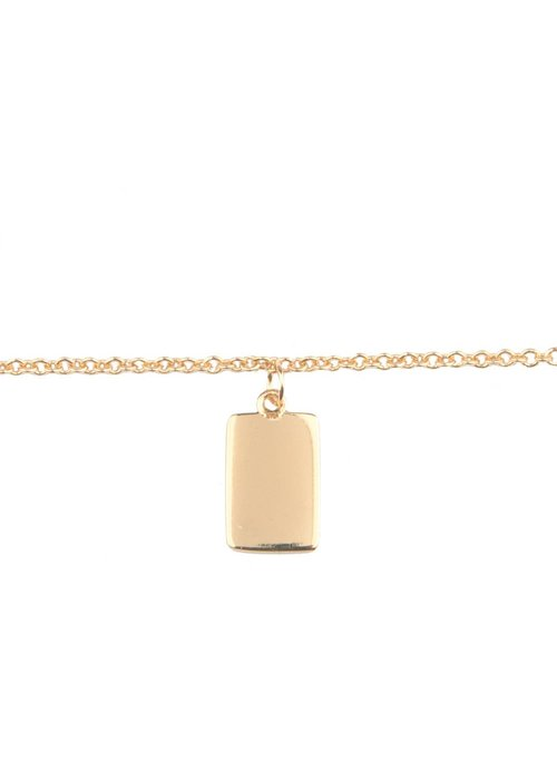 All the Luck in the World Souvenir bracelet Rectangle - Gold