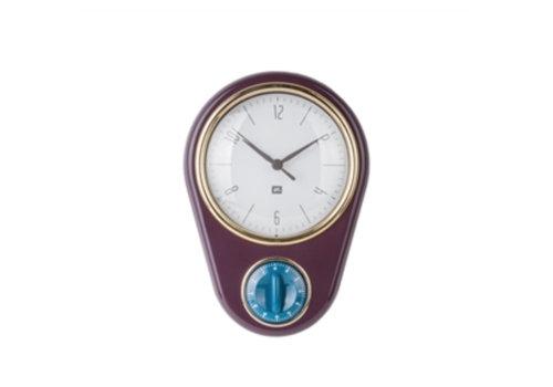 Lifestyle Clock Retro timer purple