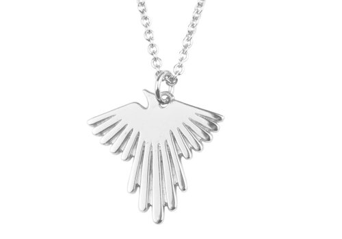 All the Luck in the World Souvenir necklace Eagle Silver