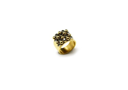 Bud to rose BAZAAR LARGE RING GOLD