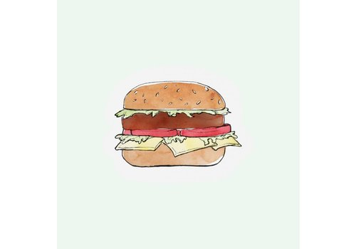 The Gift Label Cut out Cards - Hamburger