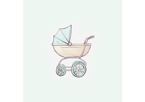 The Gift Label Cut out Cards -Stroller