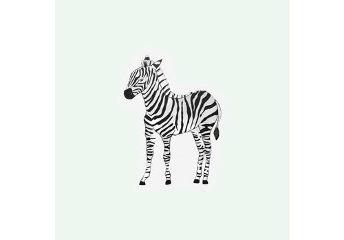 The Gift Label Cut out Cards - Zebra