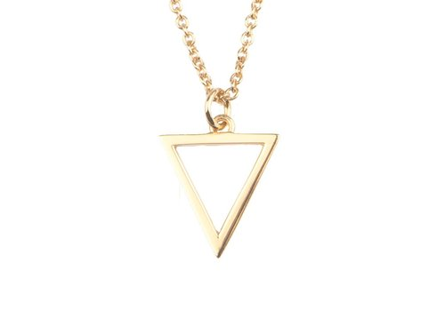 All the Luck in the World Souvenir necklace open triangle