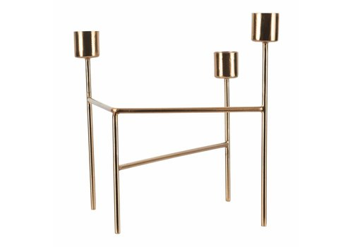 House Doctor Candle holder, THREE, brushed brass