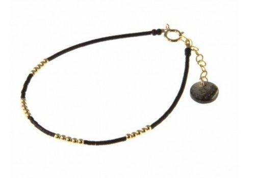 Blinckstar 1802A13 GF Beads 4x5 Matte Black Japanese Beads