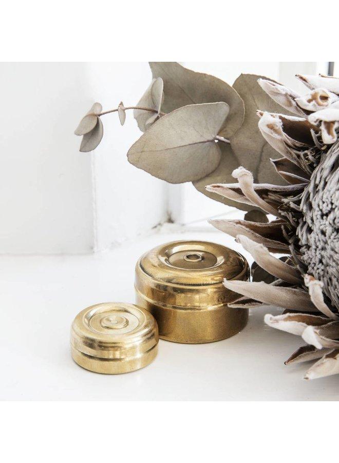Storage mini, Brass, Set of 2 sizes