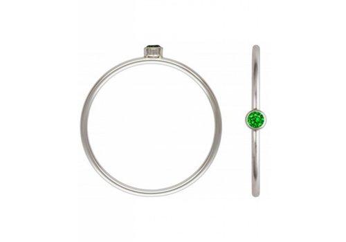 Blinckstar 1802R30 - 925 Green CZ Size 8