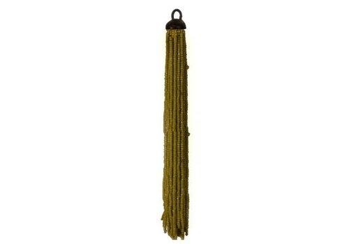 Lifestyle Ornament hang 20 cm FRINGE kralen goud