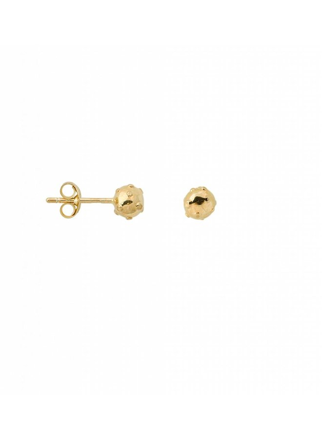 Moonscape Stud Silver Gold Plated