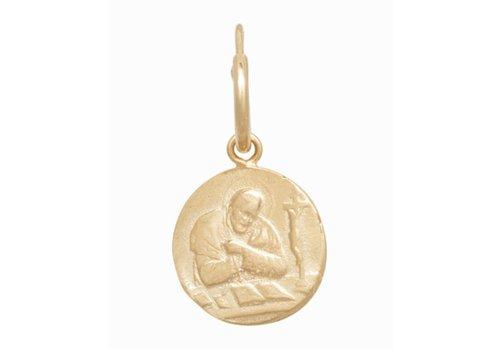 Anna + Nina Single Madonna Ring Earring Silver Goldplated